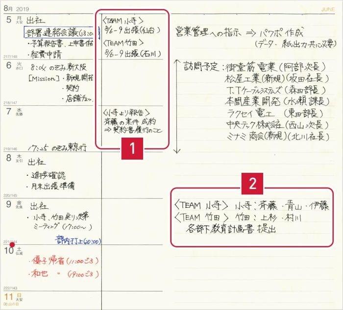 高橋書店 手帳 レフト式 管理職